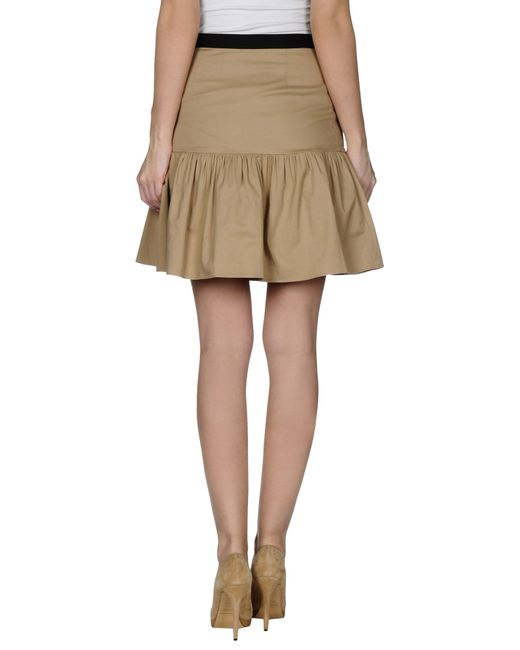 boutique moschino knee length skirt in beige save 52 lyst