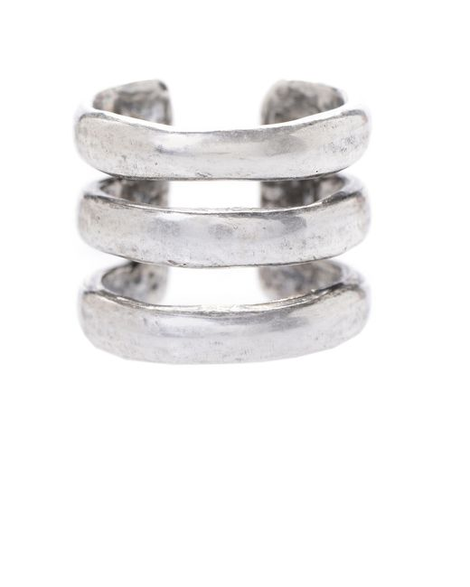 Jill Golden   Metallic Triple Band Ring   Lyst