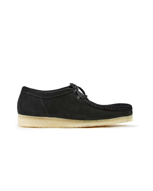 Clarks | Multicolor Wallabee Black Suede Boot for Men | Lyst