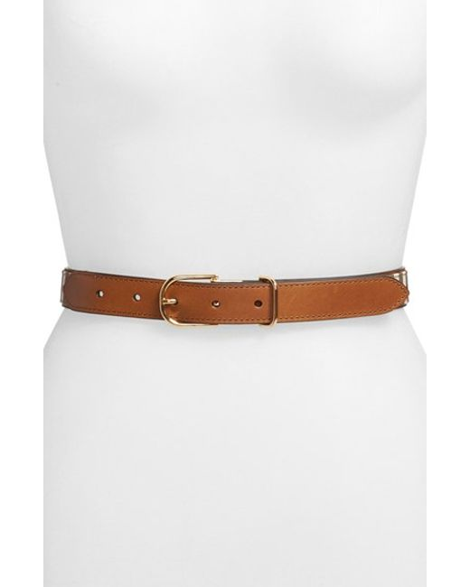 Burberry | Brown Ewell Check and Leather Belt | Lyst
