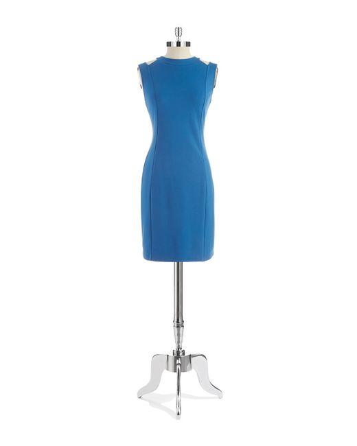 Kenneth Cole | Blue Cut-out Sheath Dress | Lyst