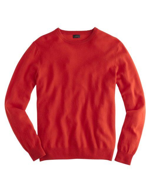 J.Crew | Red Italian Cashmere Crewneck Sweater for Men | Lyst