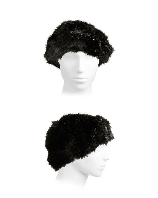 Parkhurst Faux Fur Hat In Black Lyst