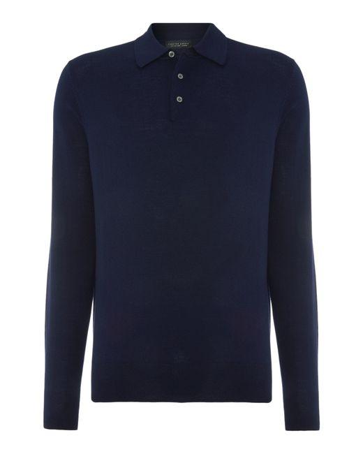 Chester Barrie | Blue Merino Polo Shirt for Men | Lyst