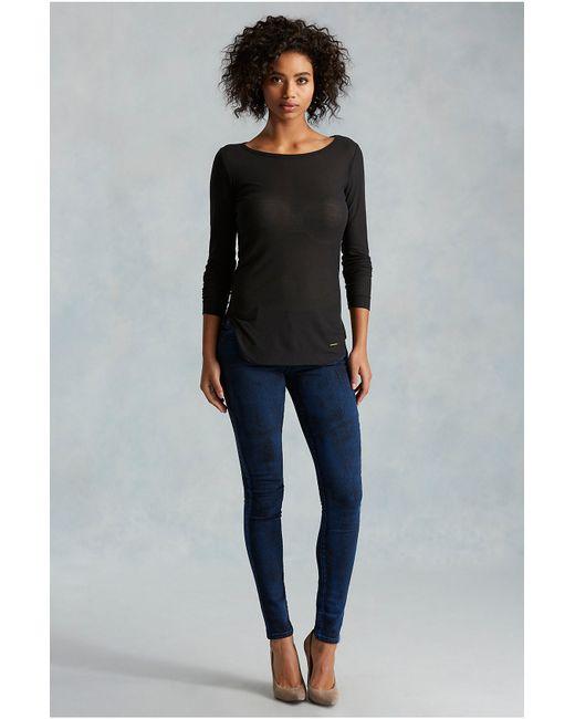 True Religion | Blue Halle Super Skinny Womens Jean | Lyst