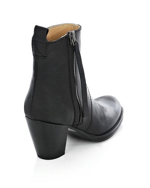 acne pistol boots in black save 6 lyst. Black Bedroom Furniture Sets. Home Design Ideas