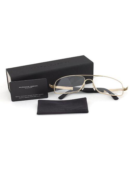 Eyeglass Frames Size 60 : Porsche design Design P8225 C Gold Eyeglasses Frame Size ...