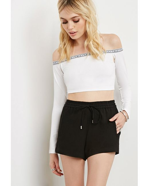 Forever 21 | White This Is A Love Song Off-the-shoulder Crop Top | Lyst
