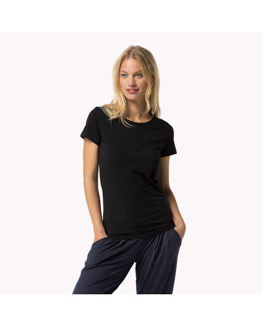 Tommy Hilfiger | Black Iconic T-shirt | Lyst