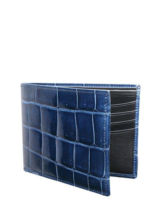 Trafalgar | Blue Genuine Alligator Leather Billfold for Men | Lyst