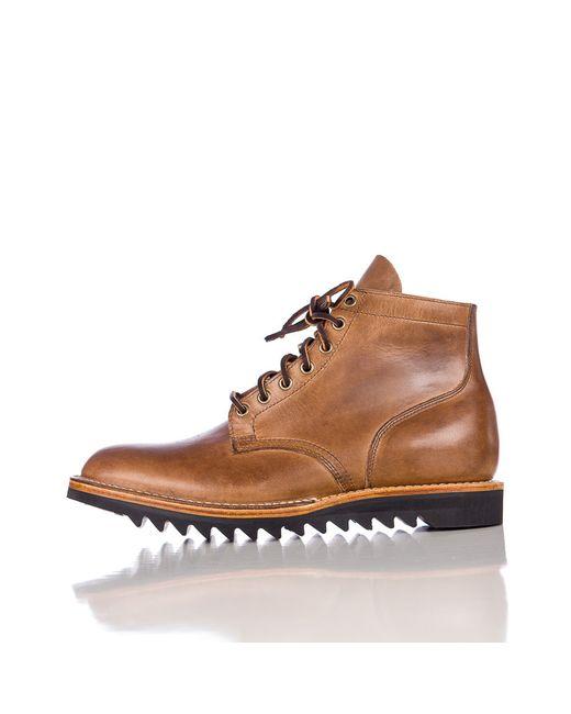 viberg service boot in cxl ripple sole in brown