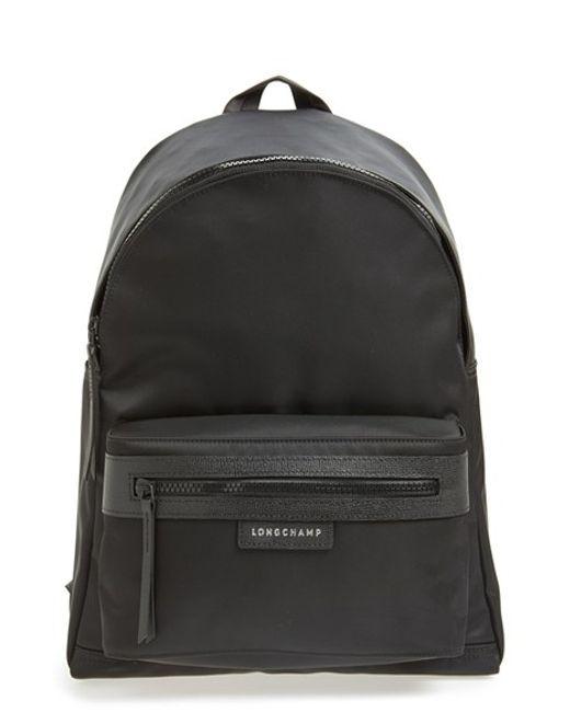 Longchamp | Black 'le Pliage Neo' Nylon Backpack | Lyst