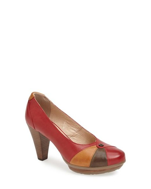 Blondo | Red 'valence' Waterproof Platform Pump | Lyst
