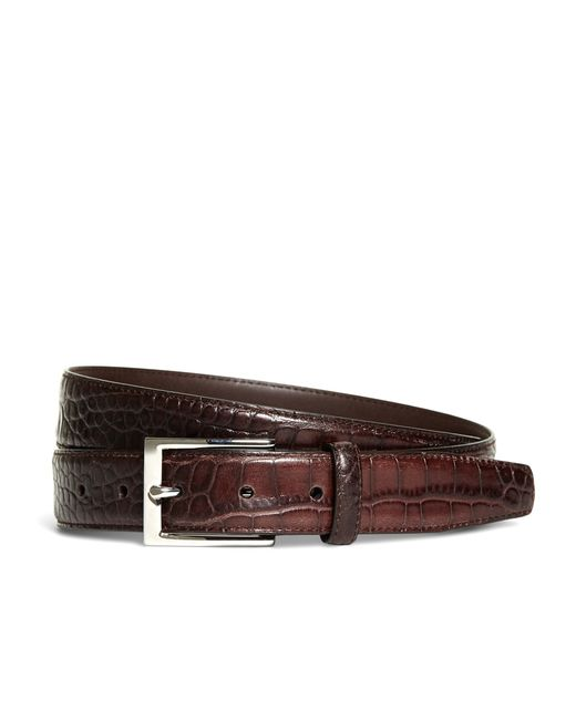 Brooks Brothers | Brown Embossed Leather Belt for Men | Lyst