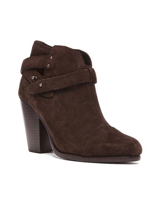 rag bone harrow suede ankle boots in brown espresso