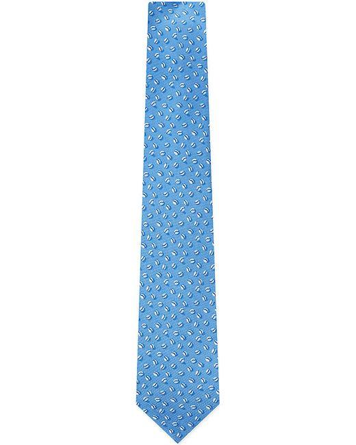 Ferragamo | Blue Coffee Bean Silk Tie for Men | Lyst
