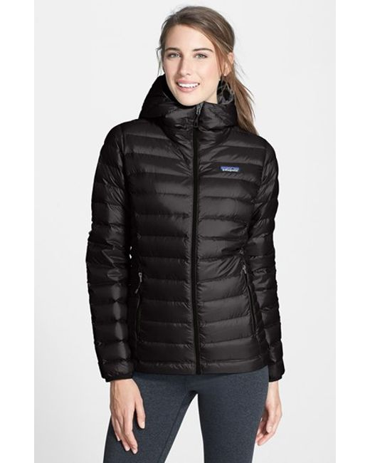 Patagonia | Black Quilted Water Resistant Down Coat | Lyst