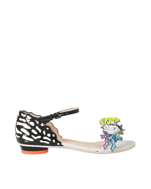 Sophia Webster Lilico Floral Flat Slide Sandal