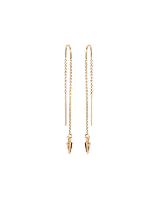 Bing Bang   Metallic Pearl Pendulum Chain Earrings   Lyst