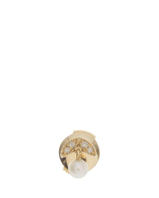 Yvonne Léon   Metallic Diamond And Pearl Earring   Lyst