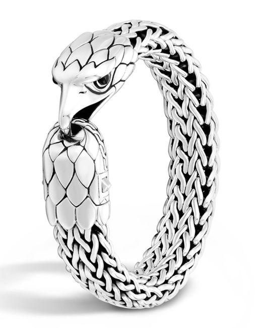 John Hardy Men S Silver Eagle Head Chain Bracelet In