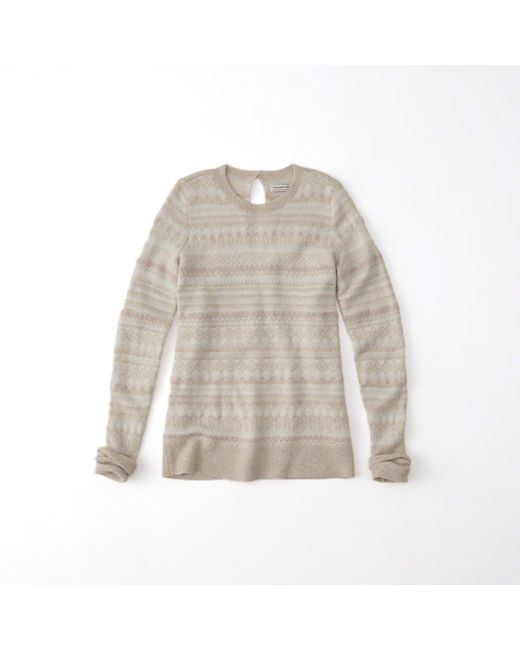 Abercrombie & fitch Shine Fairisle Pullover Sweater | Lyst