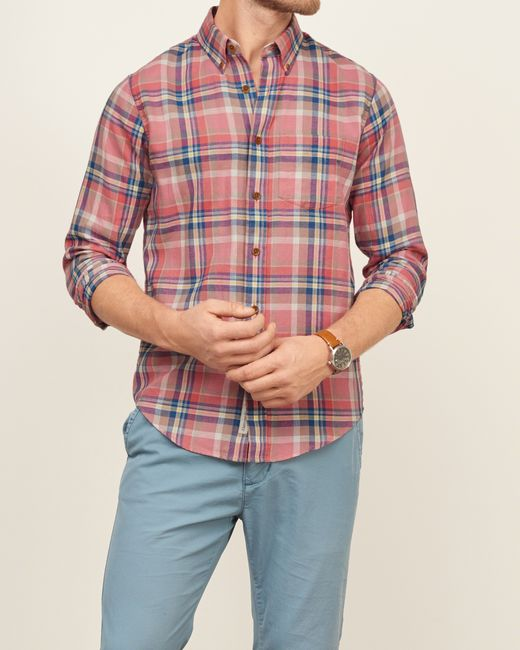 abercrombie amp fitch madras plaid shirt in multicolor for