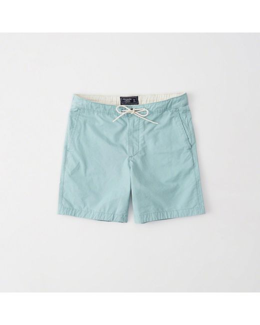 Abercrombie & Fitch - Blue Pull-on Plainfront Shorts - Lyst