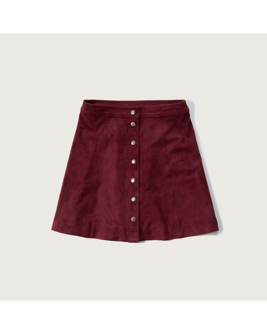 abercrombie fitch faux suede a line skirt in lyst