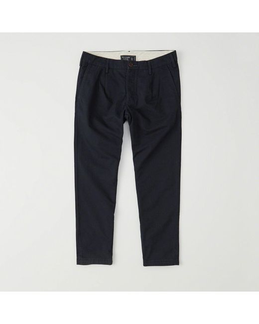 Abercrombie & Fitch - Blue Athletic Slim Cropped Chinos - Lyst