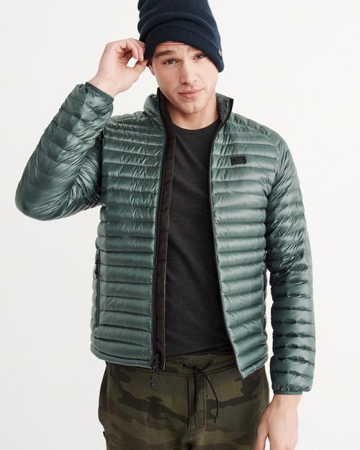 Abercrombie Fitch Accessories Abercrombie Fitch Womens: Abercrombie & Fitch Lightweight Down Jacket In Green For