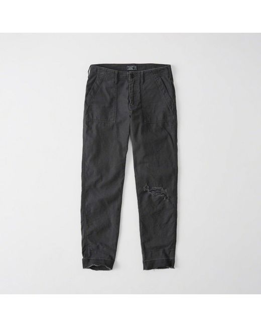 Abercrombie & Fitch - Gray Military Boyfriend Pants Exchange Color / Size - Lyst