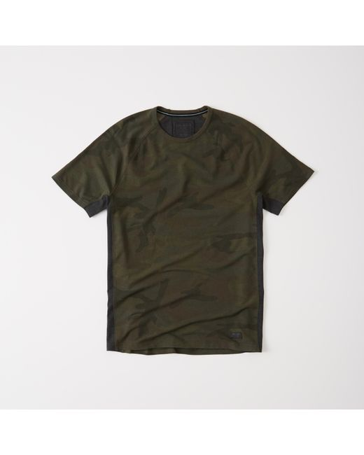 Abercrombie & Fitch   Green Active Crew Tee for Men   Lyst