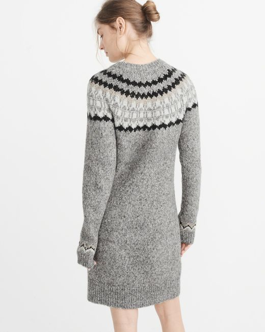 Abercrombie & fitch Fairisle Sweater Dress Exchange Color / Size ...