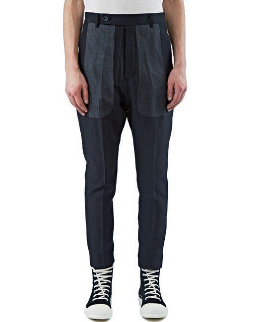 Rick owens Men's Astaires Sheer Layered Pants In Black in ...