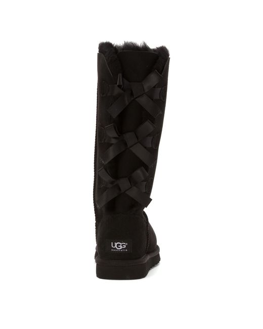 Ugg Bailey Bow Tall in Black - Save 30% | Lyst Tall Black Uggs With Bows