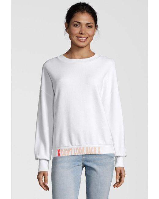 PAUL X CLAIRE White Sweatshirt DON'T LOOK BACK