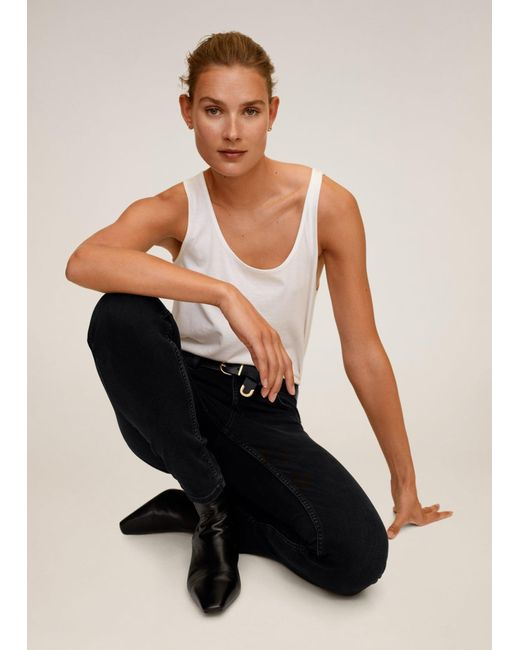Mango Black Jeans 'Kim'