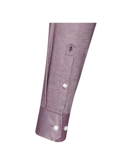 Seidensticker Hemd 'Modern' in Purple für Herren