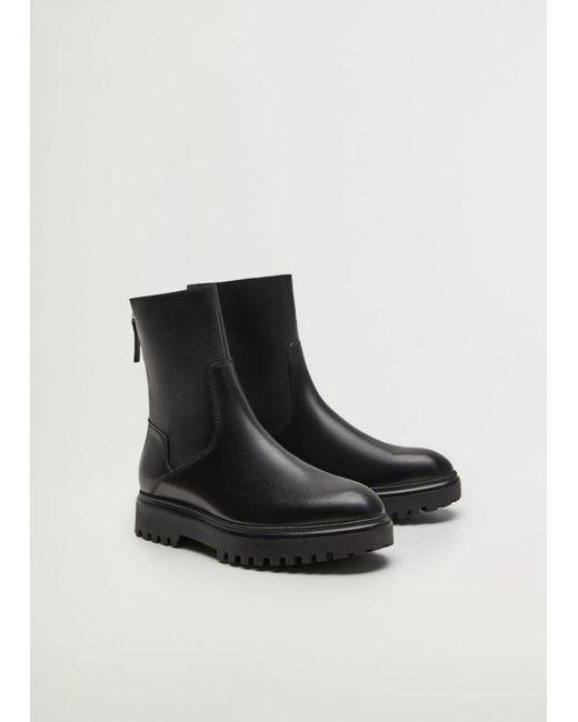Mango Black Boots 'Hector'