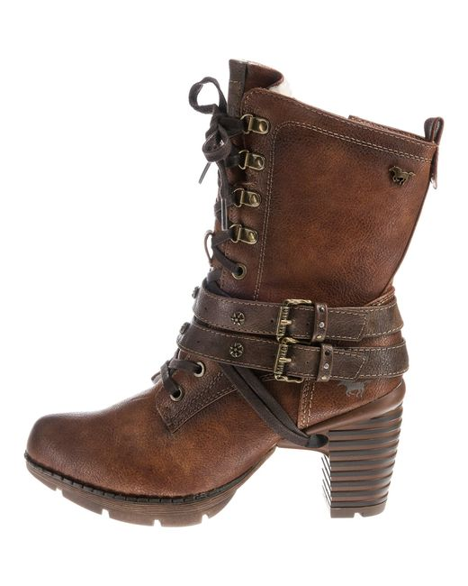 Mustang Brown Stiefelette