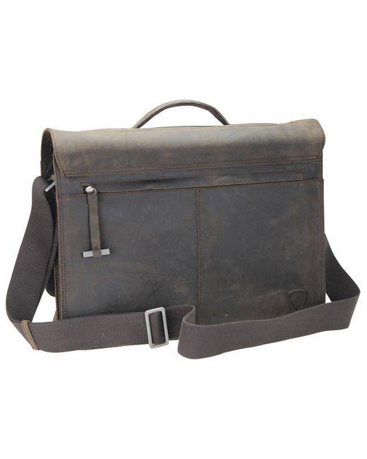 Strellson Richmond Messenger BriefBag XL Leder 41 cm Laptopfach in Brown für Herren