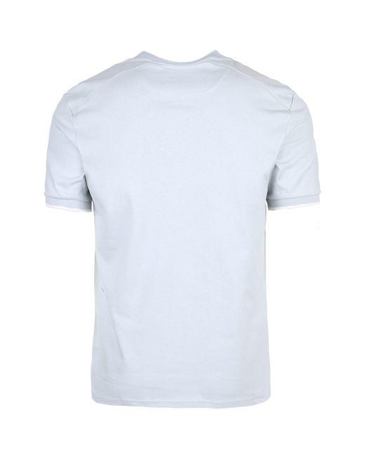 Lyle & Scott T-Shirt 'Nylon Panel' in Blue für Herren