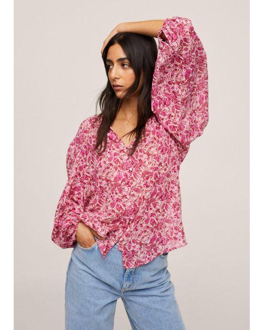 Mango Pink Bluse 'Riviera'