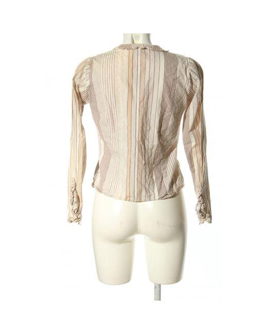 Vero Moda Natural Langarm-Bluse