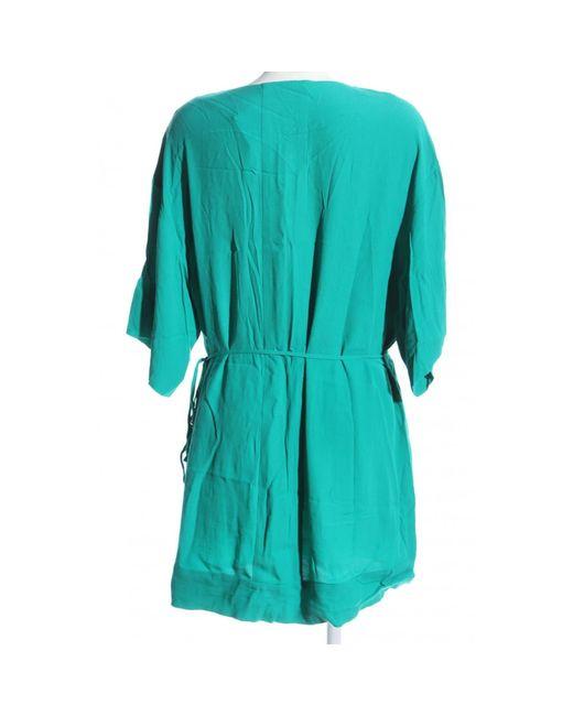 Diane von Furstenberg Blue Blusenkleid