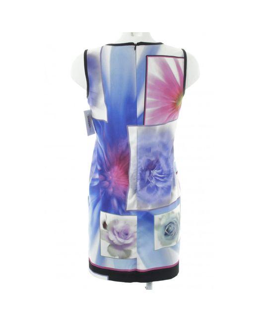 Piu' & Piu' Blue Schulterfreies Kleid