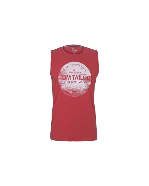 Tom Tailor Shirt in Red für Herren