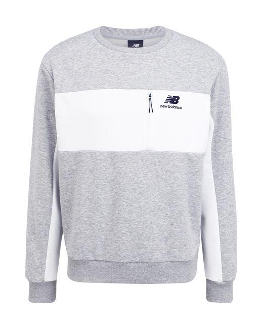 New Balance Sweatshirt in Gray für Herren