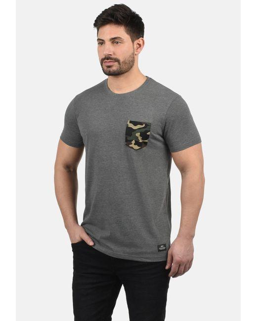 Solid Rundhalsshirt 'Calvin' in Gray für Herren